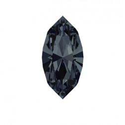 Swarovski Navette Fancy Stone #4228 - Graphite 15x7mm