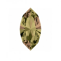 Swarovski Navette Fancy Stone #4228 - Iridescent Green 15x7mm