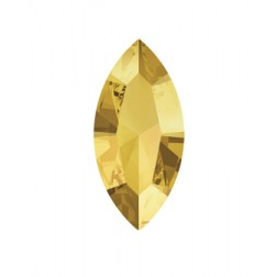 Swarovski Navette Fancy Stone #4228 - Metallic Sunshine 15x7mm