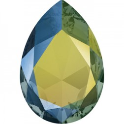 Swarovski Large Pear Fancy Stone #4327 - Iridescent Green 30x20mm