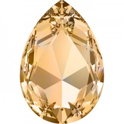 Swarovski Large Pear Fancy Stone #4327 - Lt Colorado Topaz 30x20mm