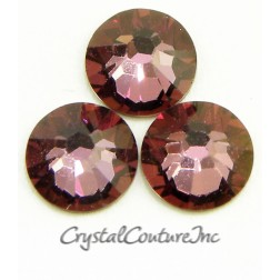 Swarovski 2058 Rhinestones Antique Pink Crystal Coated 09ss Small Tube