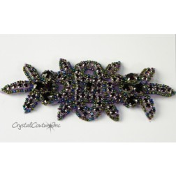 Amethyst Rhinestone/Amethyst AB Beaded Applique
