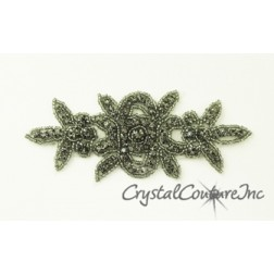 Black Diamond Beaded/Rhinestone Applique #2