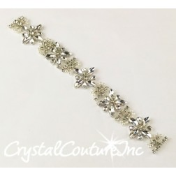 Crystal Navette & Pears with Pearls Applique