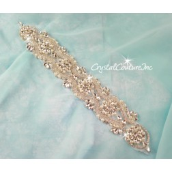 Crystal/Pearl & Pear/Navette Rhinestone Applique #10