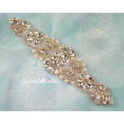 Crystal/Pearl & Pear Shape Rhinestone Applique #6