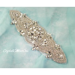 Crystal Pear/Navette Rhinestone Applique #4