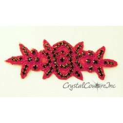 Siam Rhinestone/Siam Beaded Applique